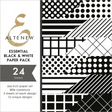 Altenew - Paper Pack 24 Seiten 6x6 - Essential Black & White