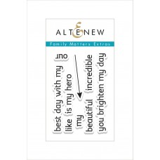 Altenew - Family Matters Extras - Clear Stamps 2x3