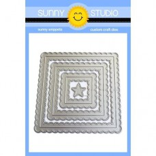 Sunny Studio - Fancy Frames Squares - Stand alone Stanzen