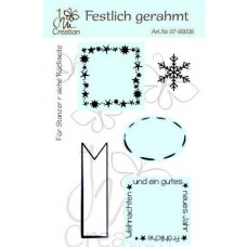 JM Creation - Festlich gerahmt - Clear Stamp