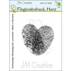 JM Creation - Fingerabdruck Herz - Rubberstamp