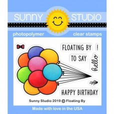 Sunny Studio - Floating By Stamps - Clear Stamps 2x3