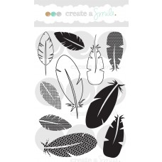Create A Smile - Funky Feathers Clear Stamp 4x6
