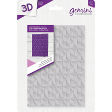Gemini 5 x 7 3D Embossing Folder - Geometric Triangles
