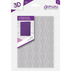 Gemini 5 x 7 3D Embossing Folder - Cable Knit