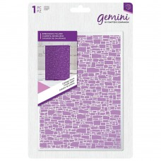 Gemini 5 x 7 Embossing Folder - Cottage Stone