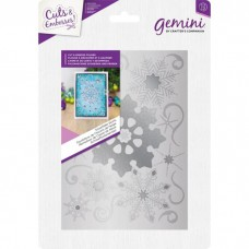 Gemini Shaped Cut and Emboss Folder - Snowflake Swirls