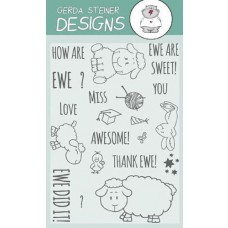 Gerda Steiner Designs - How are Ewe? 4x6 Clear Stamp Set