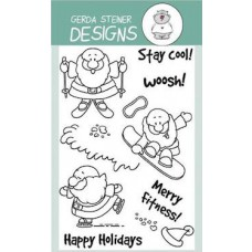 Gerda Steiner Designs - Sportsy Santa 4x6 Clear Stamp Set