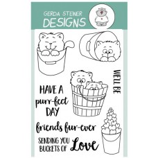 Gerda Steiner Designs - Buckets Of Love - 4x6 Clear Stamp Set