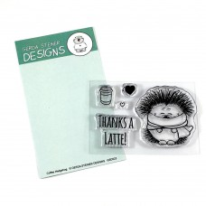Gerda Steiner Designs - Coffee Hedgehog - Clear Stamps 2x3