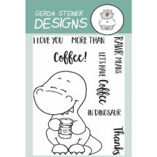 Gerda Steiner Designs - Coffesaurus -  Clear Stamp Set 3x4
