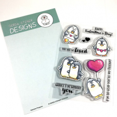 Gerda Steiner Designs - Valentine Penguins - Clear Stamps 4x6