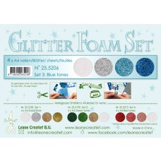 Glitter Foam Set 3 Blue tones