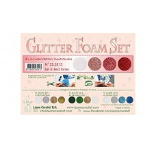Glitter Foam Set 4 red tones