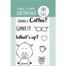 Gerda Steiner Designs - Gopher It! -  Clear Stamp Set 3x4