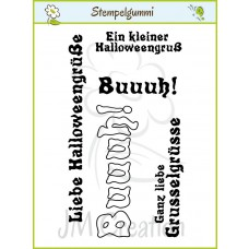 JM Creation - Halloweengrüße - Cling Stamp