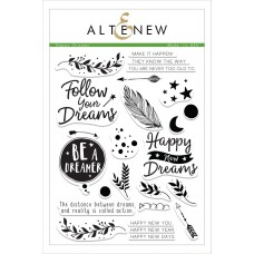 Altenew - Happy Dreams - Clear Stamps 6x8
