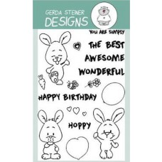 Gerda Steiner Designs - Happy Hoppy - 4x6 Clear Stamp Set
