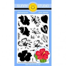 Sunny Studio - Hawaiian Hibiscus - Clear Stamps 4x6