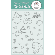 Gerda Steiner Designs - Hello Spring - 4x6 Clear Stamp Set
