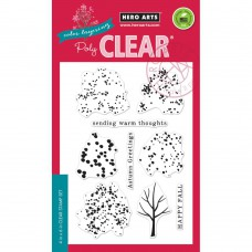 "Hero Arts Clear Stamps 4""X6"" - Color Layering Fall Trees"