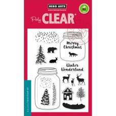 "Hero Arts Clear Stamps 4""X6"" - Winter Scene"