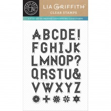 """Hero Arts Clear Stamps By Lia 4""""X6"""" - Ribbon Letters"""