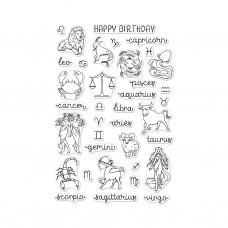 Hero Arts - Zodiac Birthday - Clear Stamps