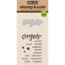 Hero Arts Stamp & Cuts - Congrats