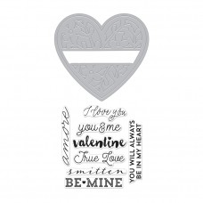 Hero Arts Stamp & Cuts - Floral Heart