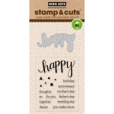 Hero Arts Stamp & Cuts - Happy