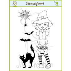 JM Creation - Hexe Helene - Cling Stamp