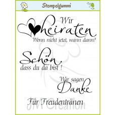 JM Creation - Hochzeit 4 - Clear Stamp