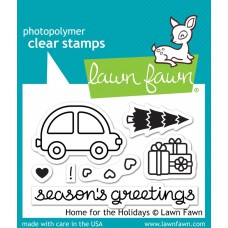 Lawn Fawn - home for the holidays - Clear Stamp 2x3