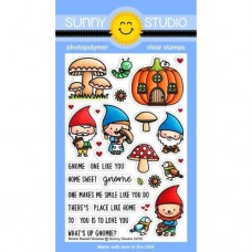 Sunny Studio - Home Sweet Gnome - Clear Stamps 4x6