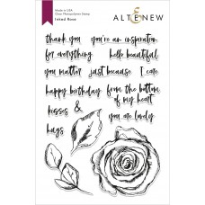 Altenew - Inked Rose - Clear Stamp 6x8