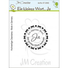 JM Creation - Ja - Ein kleines Wort... - Clear Stamp