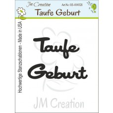 JM Creation - Stanzschablone - Taufe-Geburt