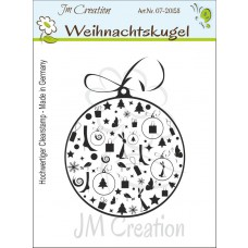 JM Creation - Weihnachtskugel - Clear Stamp
