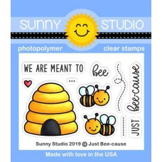 Sunny Studio - Just Bee-cause - Clear Stamps 2x3