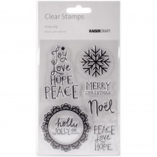 Kaisercraft - Clear Stamps 4x6 - Holly Jolly