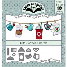 Karen Burniston - Coffee Charms Stanzen