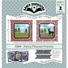 Karen Burniston - Fancy Flourish Frames Stanzen