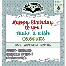 Karen Burniston - Word Set 2 Birthday Stanzen