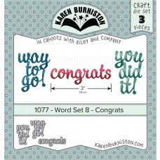 Karen Burniston - Word Set 8 - Congrats