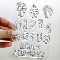Klartext-Stempel - Happy Cupcakes - Clear Stamp Set 4x6