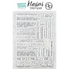 "Klartext-Stempelset A6 ""Disclaimer"""