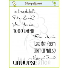JM Creation - Kleine Worte - Cling Stamp