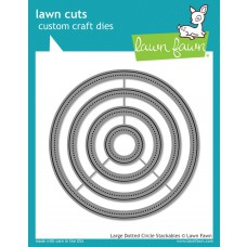 Lawn Fawn - Large Dotted Circle Stackables - Cuts